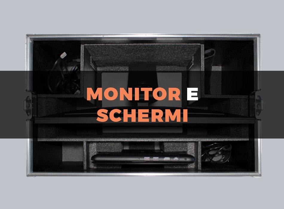 Custodia flight case per monitor e schermi