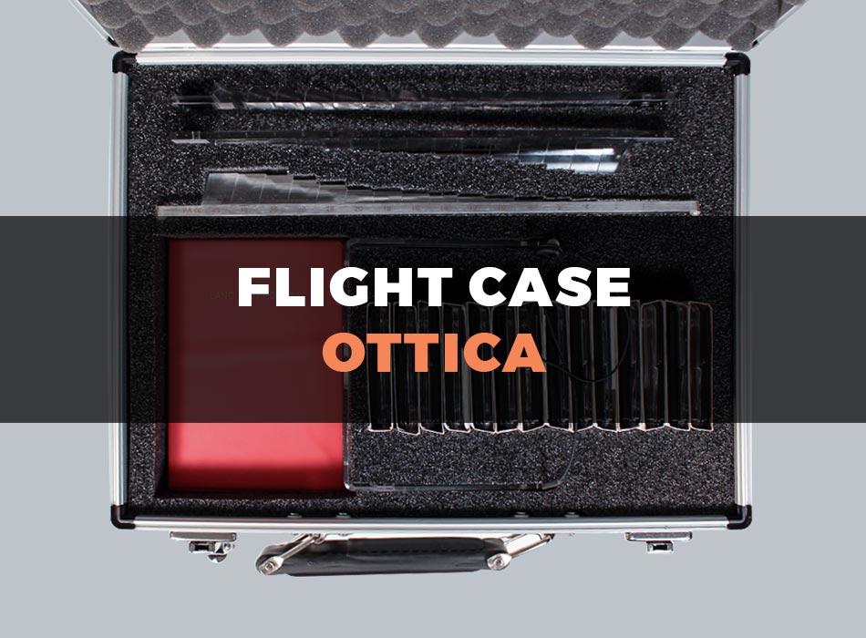 Custodia flight case per ottica