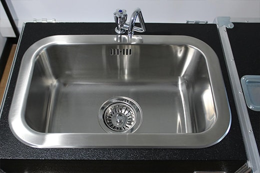 Lavello in acciaio per lavandino portatile