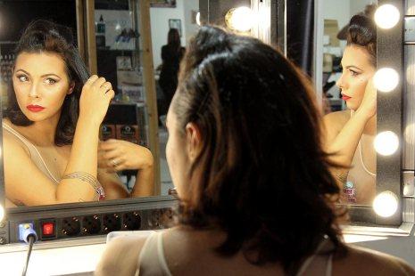 Flight case specchio portatile con luci travel case - Specchio con lampadine ...