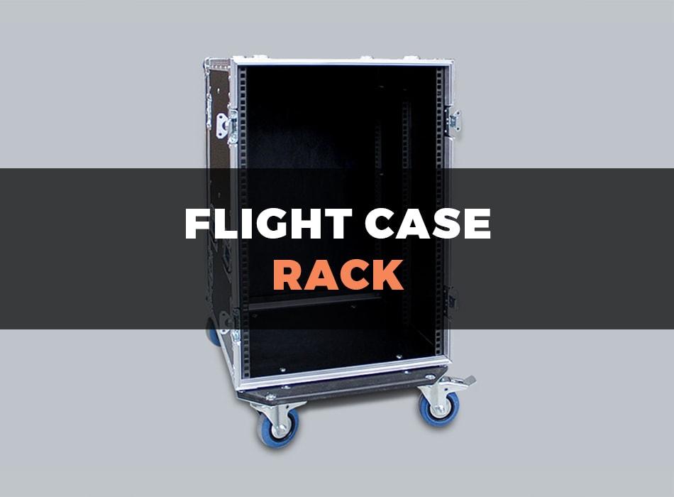 Mobile flight case rack
