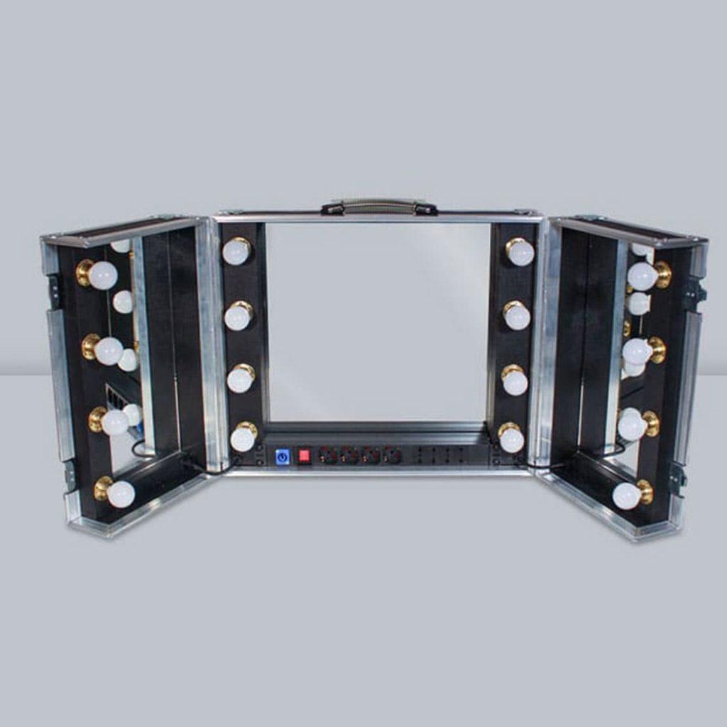 Specchio portatile con luci