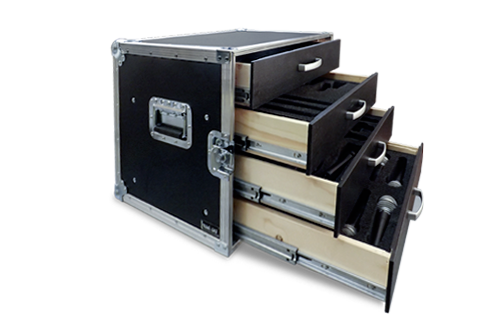 Flight case Travel Case per microfoni