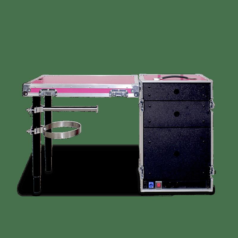 Personalizzazione workstation mini colore rosa