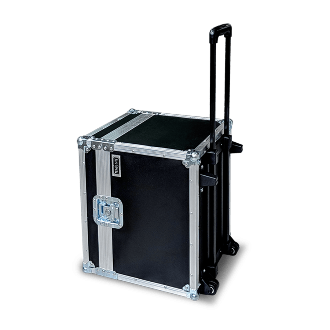 Flight case per amplificatore con assetto trolley