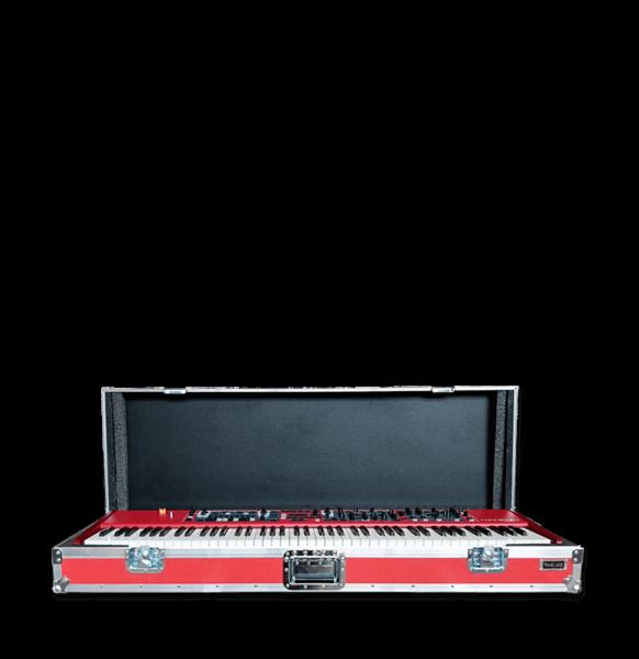 Flight case rosso per tastiera Nord Stage 3 88 tasti