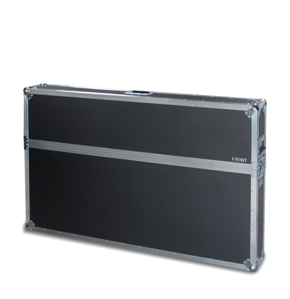 Flight case con coperchio superiore per schermo tv 49 pollici