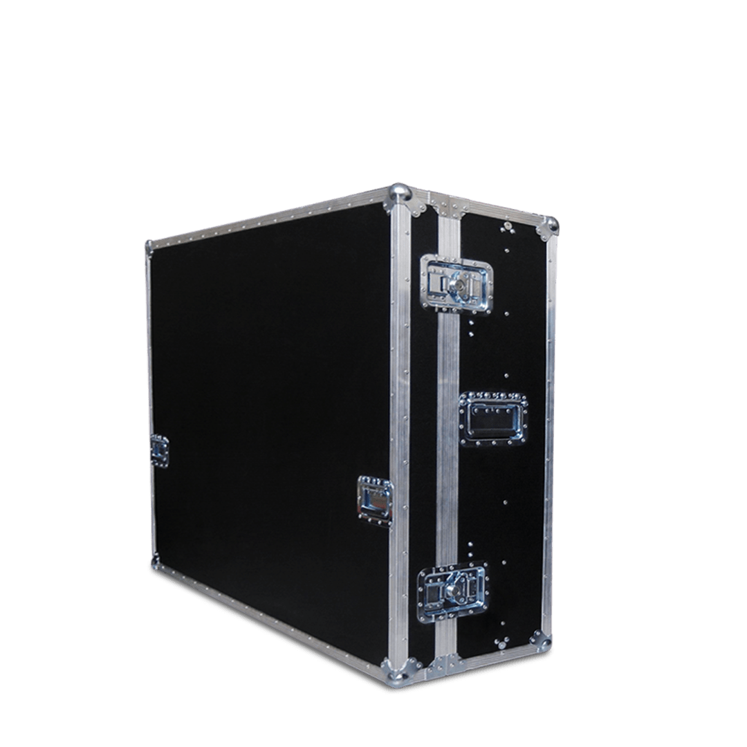 Flight case schermo tv 49 pollici con apertura frontale
