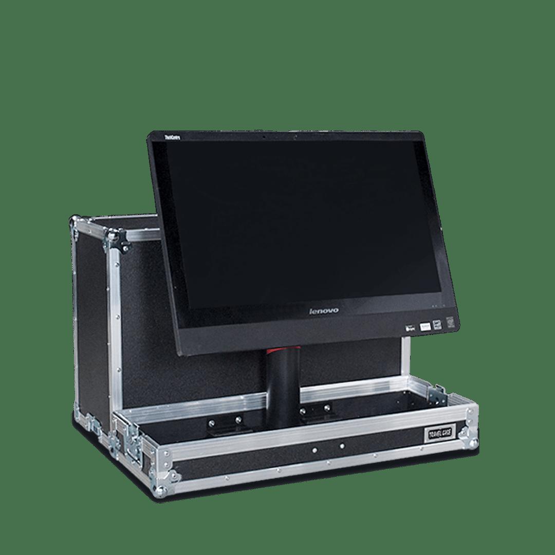 Fligh case per monitor Lenovo con altezza e inclinazione regolabili