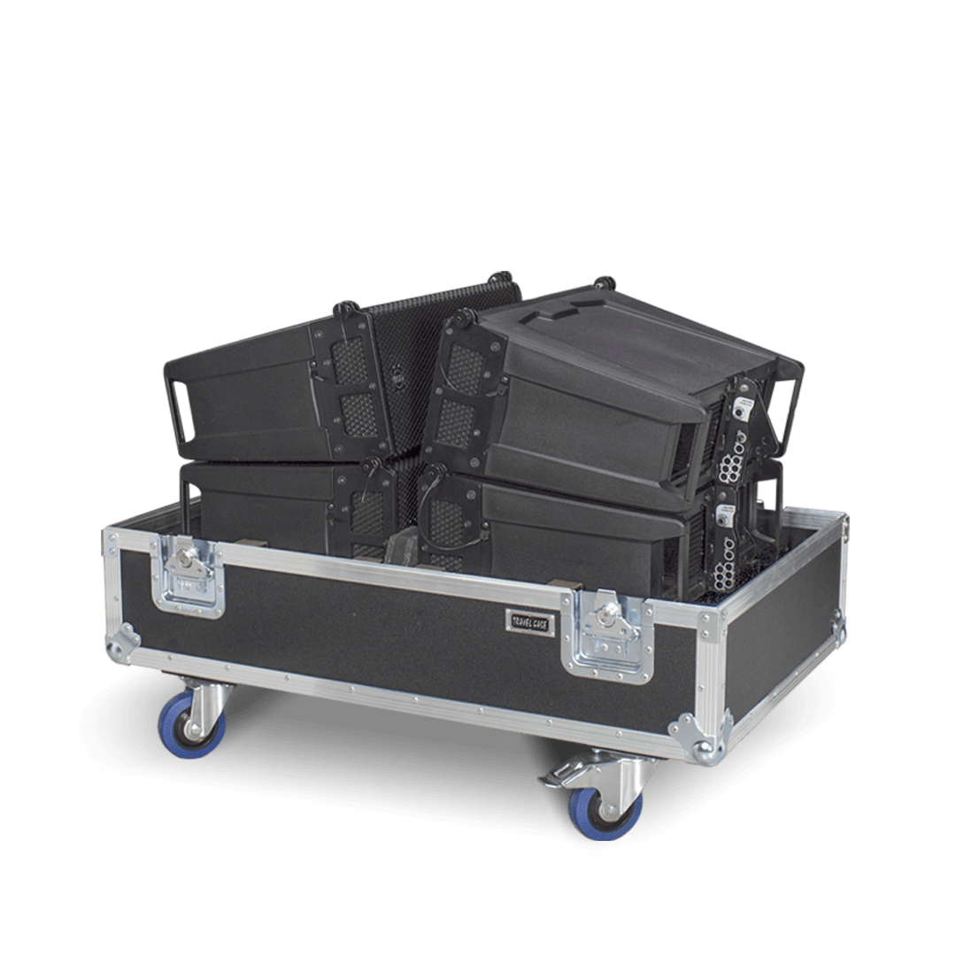 Flight case per impianto audio line array RCF