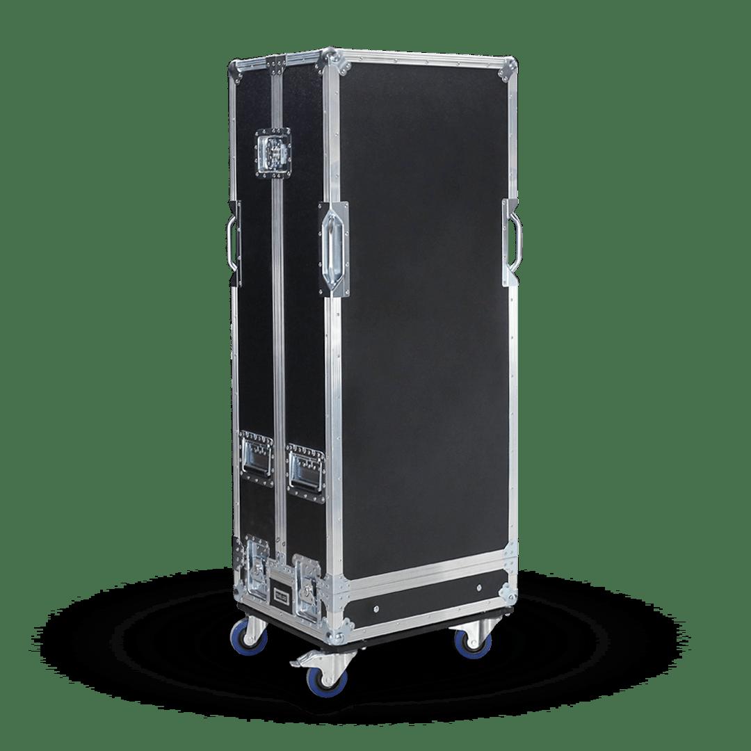 Flight case con doppio coperchio per impianto line array RCF