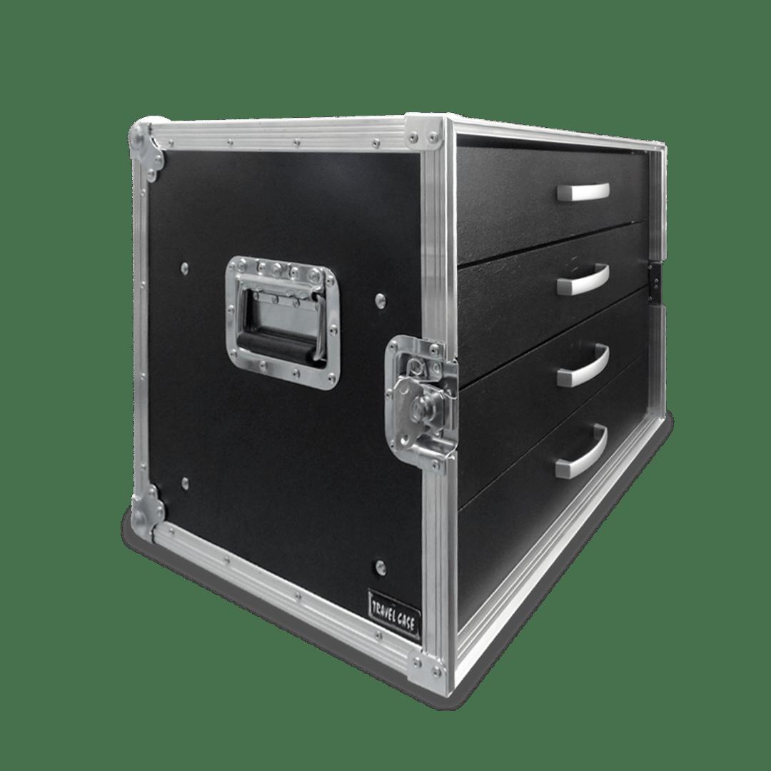 Flight case per microfoni con cassetti