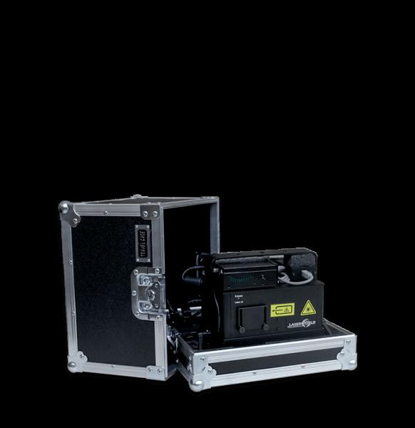 Flight case per effetto laser