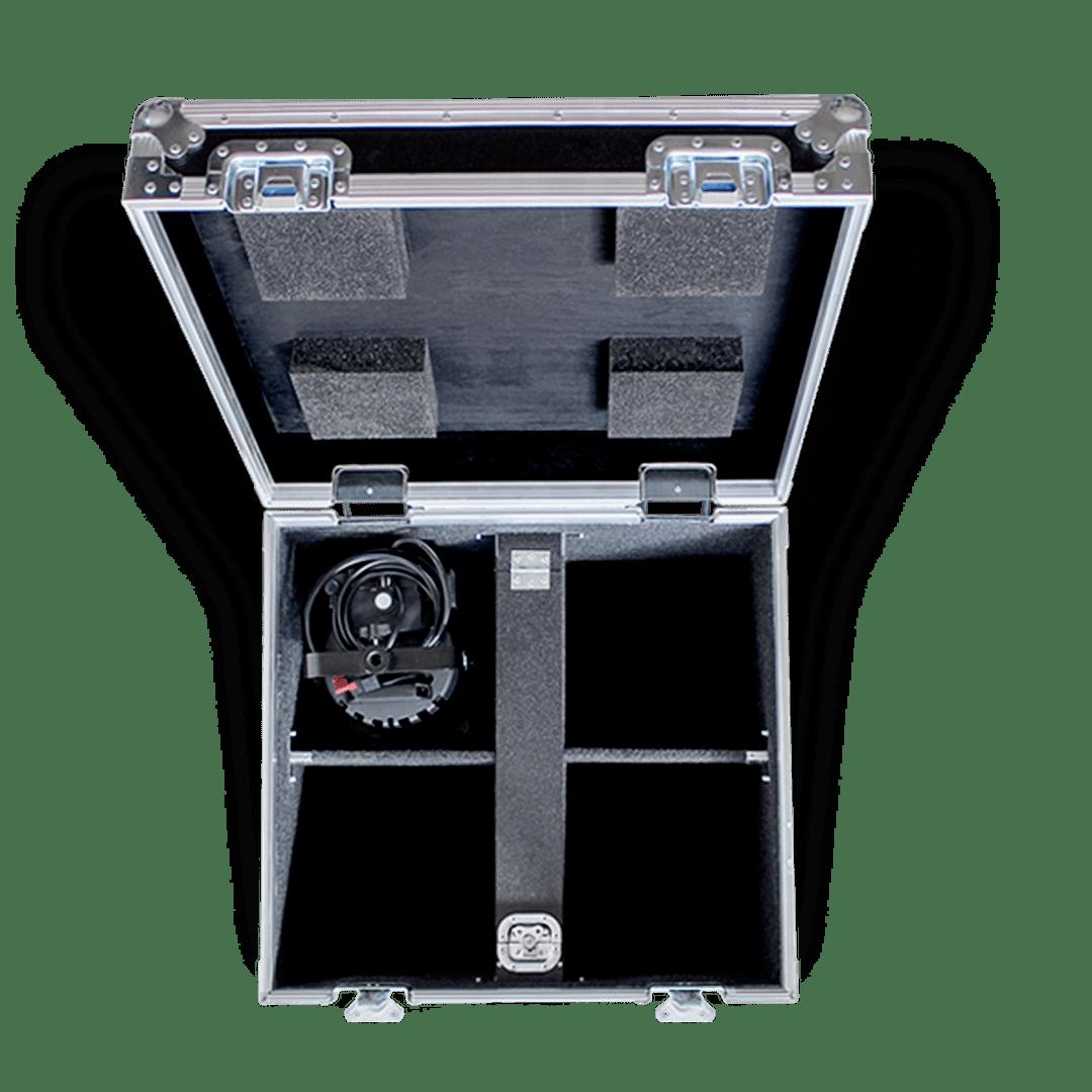 Flight case per fari spot led Lupo 1000 con comparto interno per accessori