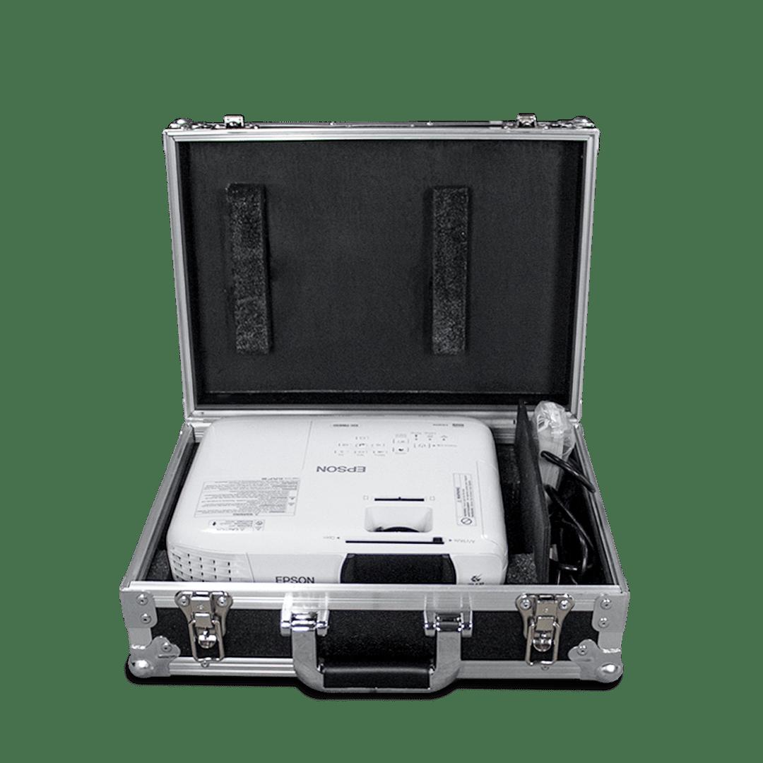 Flight case per video proiettore Epson con vano accessori