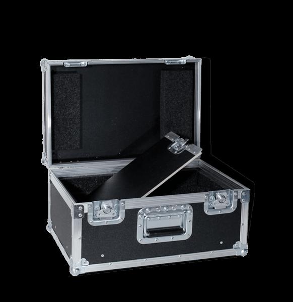 Flight case per video proiettore Epson con doppio fondo per accessori