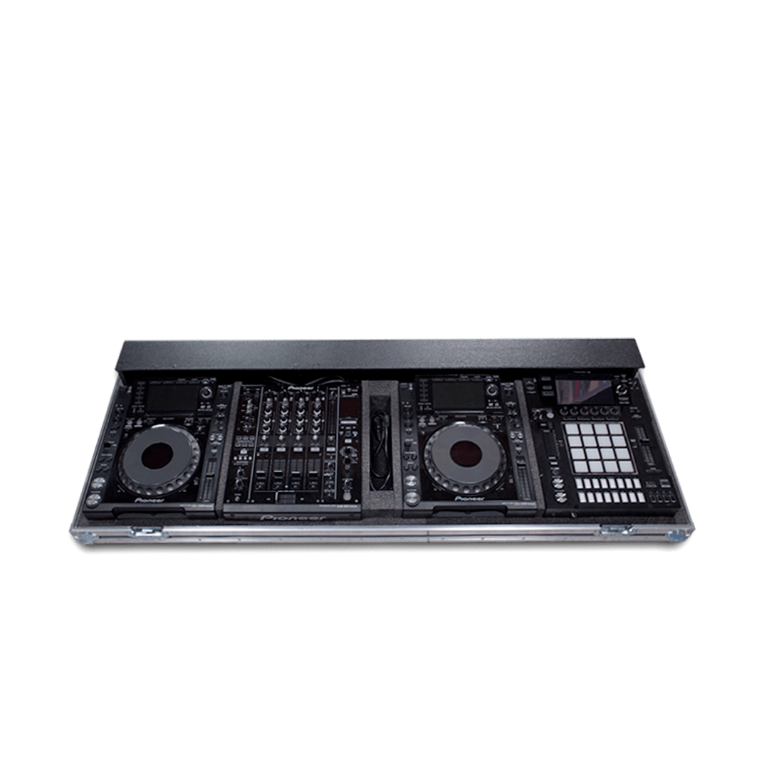 Flight case per consolle dj con mixer Allen & Heath Xone 43