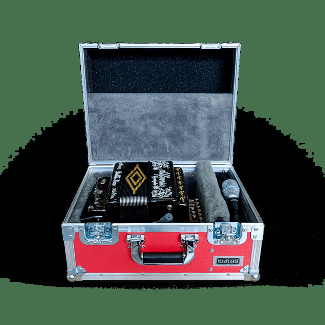 Flight case su misura per organetto con vano accessori