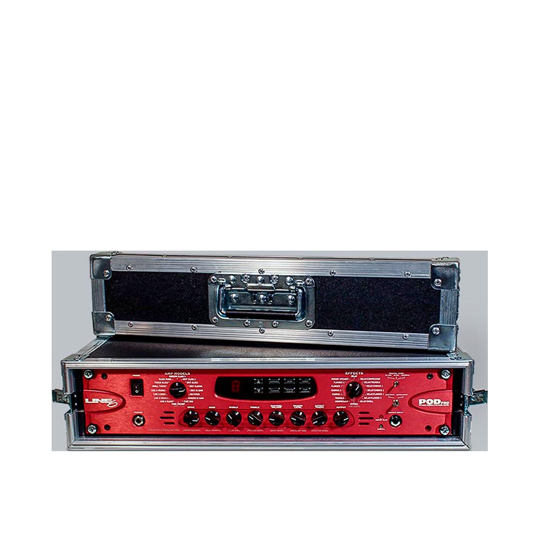 Flight case rack per processore chitarra Line 6