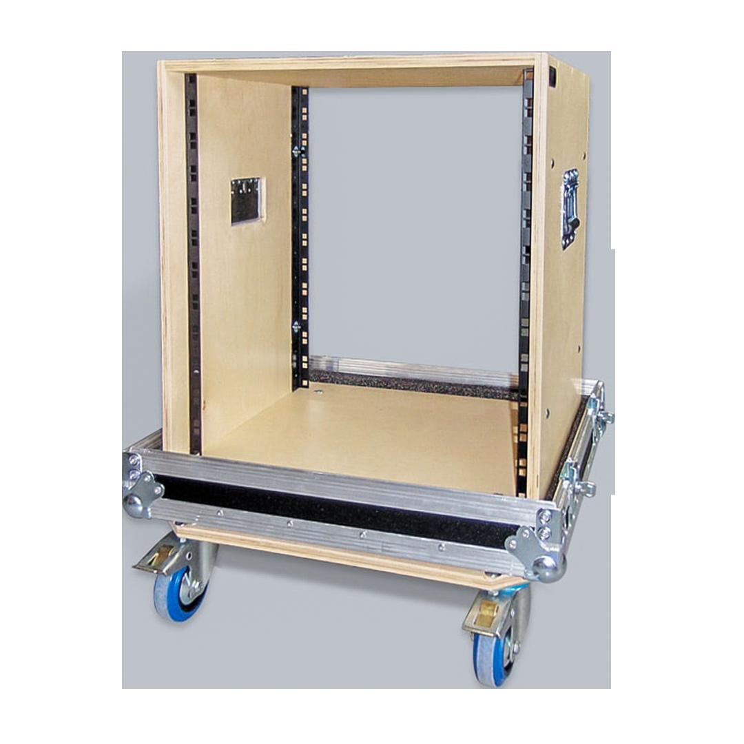 Flight case rack con struttura interna