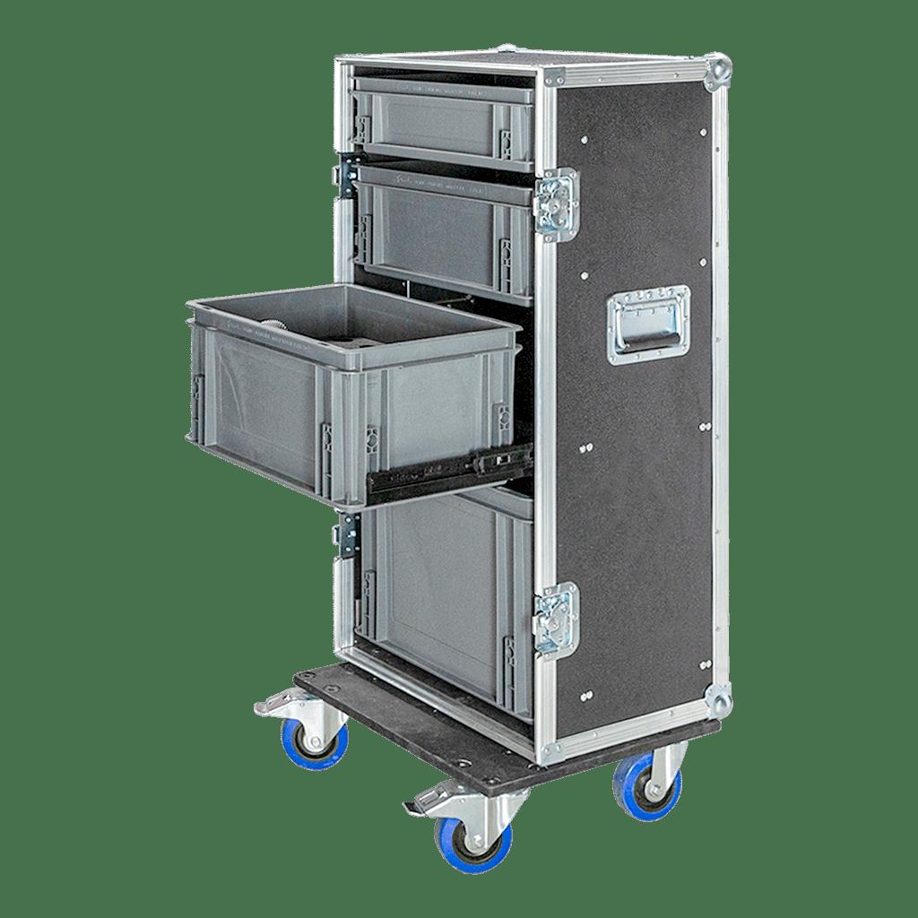 Work case con cassetti a estrazione parziale