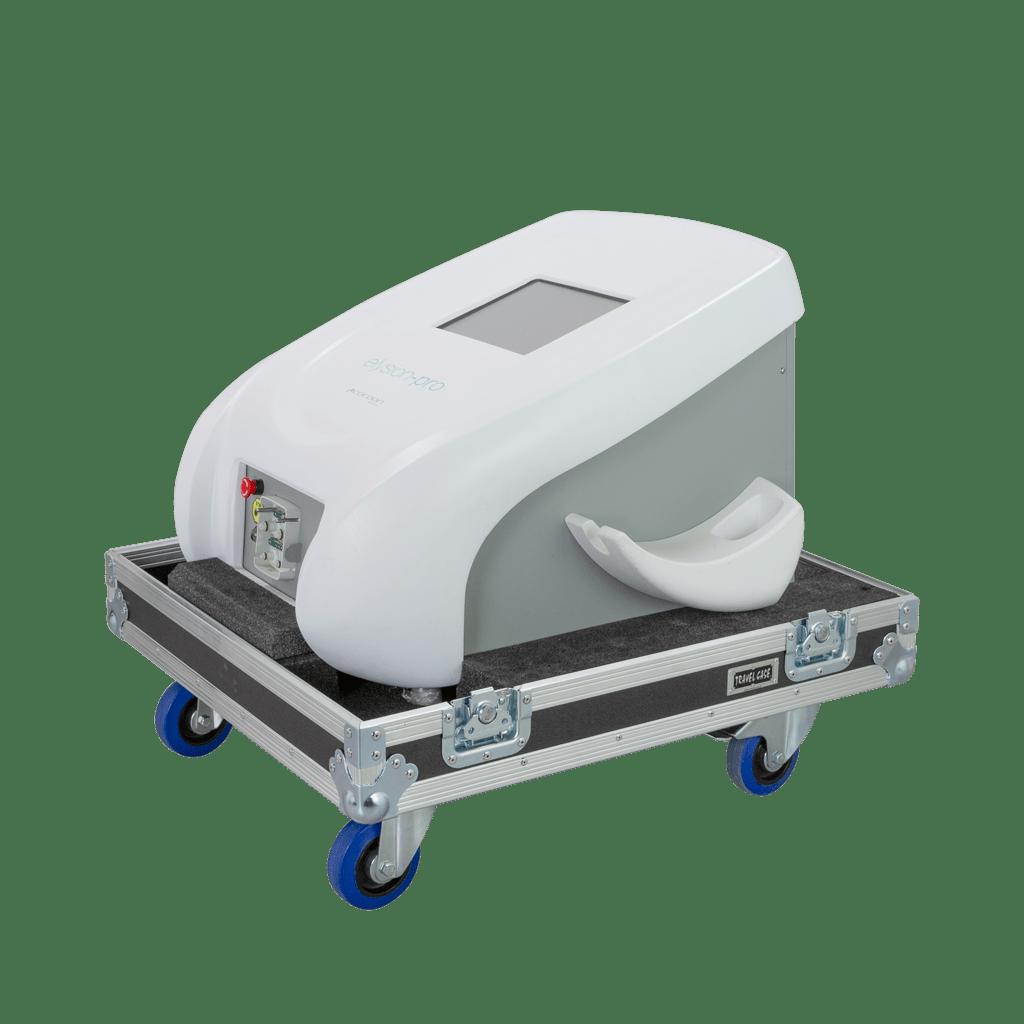 Flight case con ruote per epilatore laser